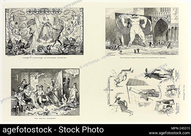 Change for a Sovereign - an Anticipated Pantomime from George Cruikshank's Steel Etchings to The Comic Almanacks: 1835-1853 (top left) - 1844, printed c