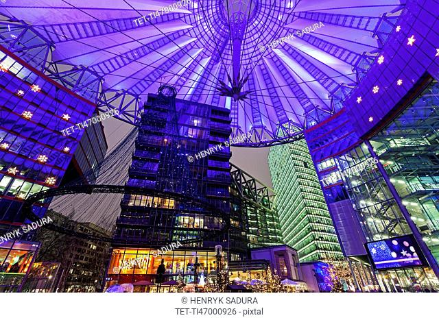 Illuminated dome of Sony Center