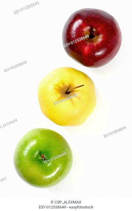 Green Yellow and Red Apples