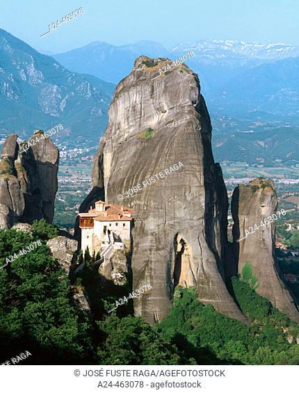 Roussanou Monastery, Meteora. Thessaly, Greece