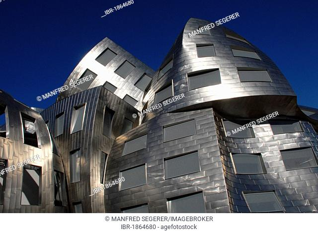 New Lou Ruvo Brain Institute designed by architect Frank O. Gehry, part of the Cleveland Clinic, Las Vegas, Nevada, USA