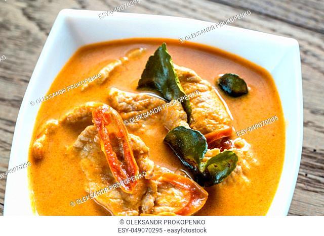 Thai panang pork curry