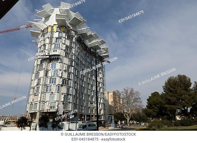 The New Bulding L'arbre Blanc in the district of Port Marianne was designed by Fujimoto In Montpellier France