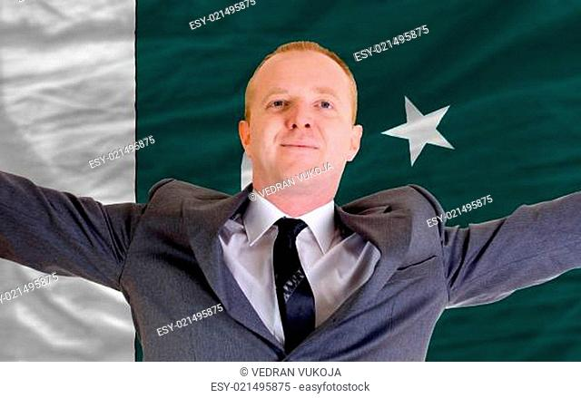 happy businessman because of profitable investment in pakistan s