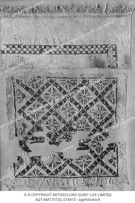Tunic with Interlace Decoration, 4th–8th century, Attributed to Egypt, Linen, wool, 50 in. high 30 1/2 in. wide (127 cm high 77