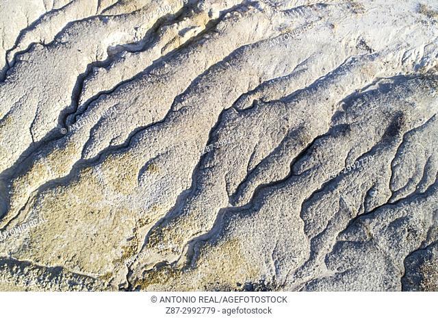 Erosion in a clay soil. Almansa. Albacete province. Spain