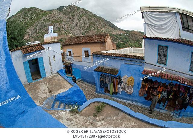 Tourist shops in Chaouen, Morocco