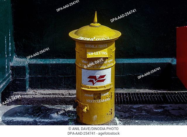 Post mail box, shimla, himachal pradesh, india, asia