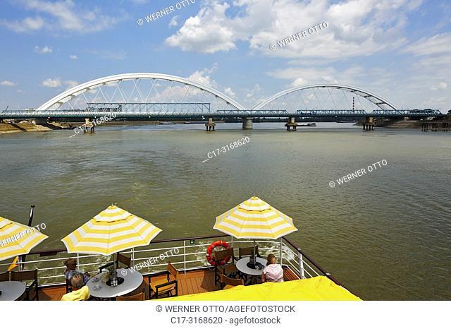 Novi Sad, Serbia, Novi Sad on the Danube, Province Vojvodina, District South Backa, river cruise on the Danube, excursion ship