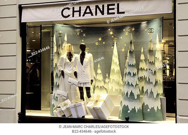 Chanel Store. Rue Cambon. Paris. France