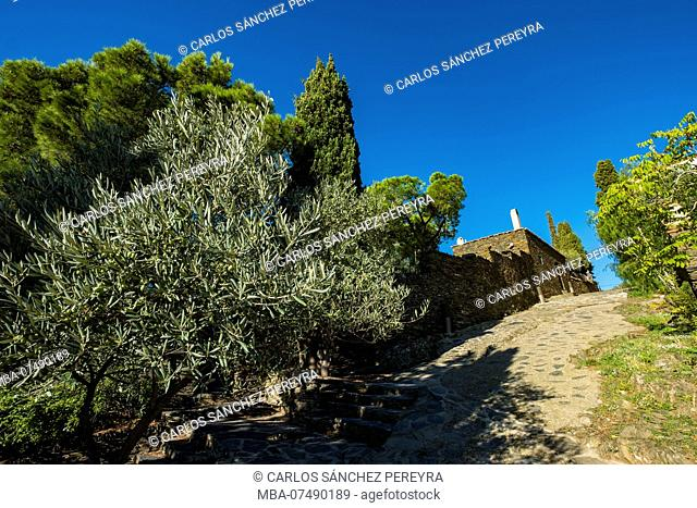 Landscapes in the town of Portlligat, where the surrealist painter Salvador Dali lived