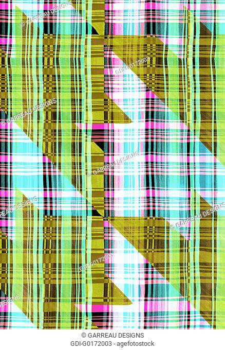 Large Houndstooth over plaid background