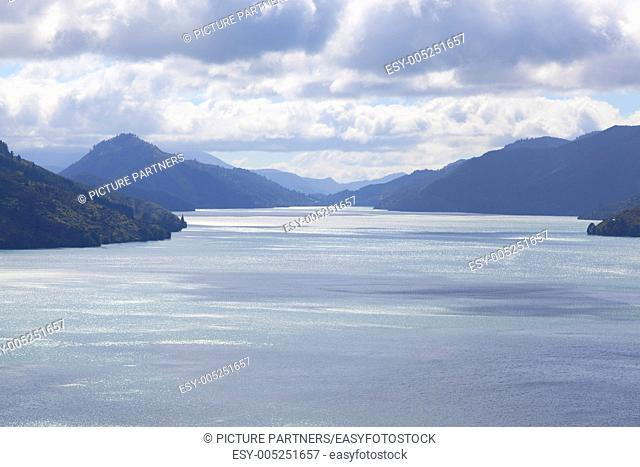 Cook Strait between the Northern and Southern island of New Zealand