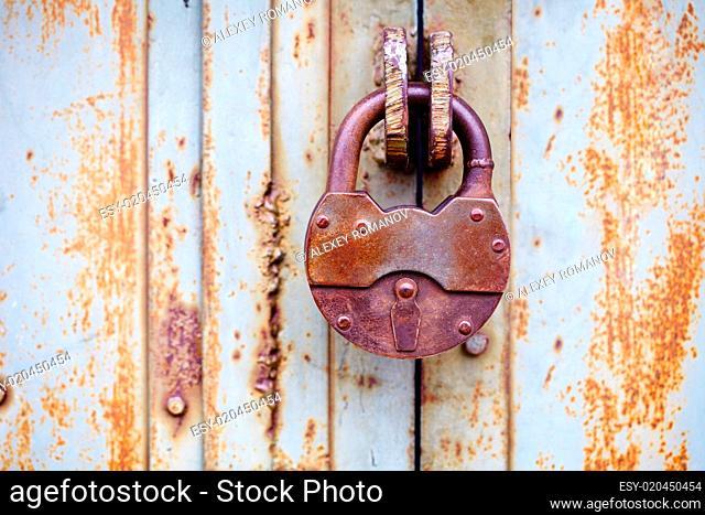 Big ancient padlock