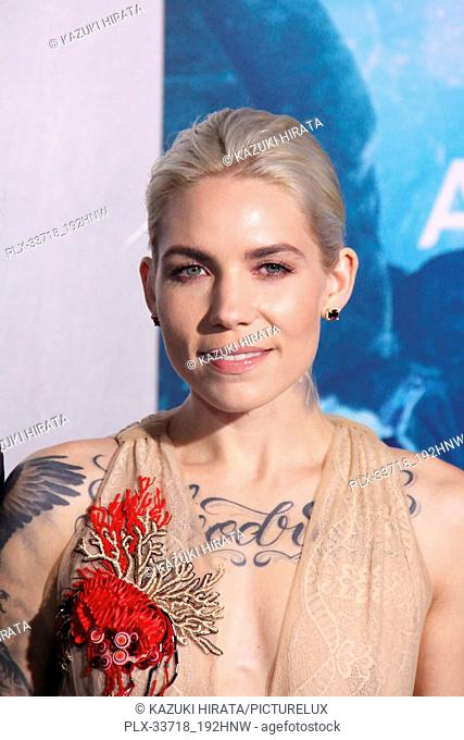 """Skylar Grey 12/12/2018 """"""""Aquaman"""""""" Premiere held at the TCL Chinese Theatre in Hollywood, CA Photo by Kazuki Hirata / HNW / PictureLux"""