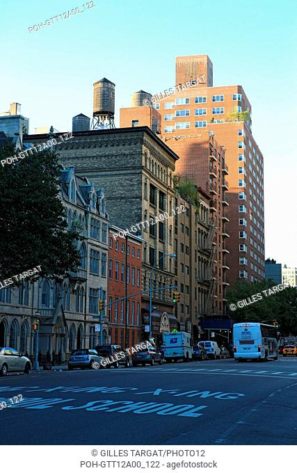 usa, etat de New York, New York City, Manhattan, Chelsea, buildings, rue, 4th av, Photo Gilles Targat