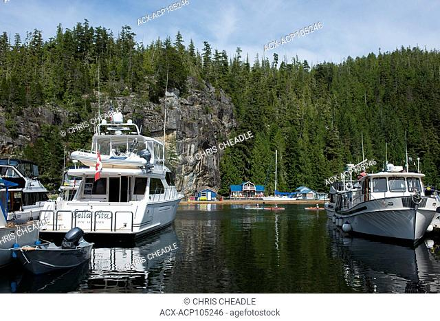 Echo Bay, iun the Broughton Archipelago, off northern Vancouver Island, British Columbia, Canada