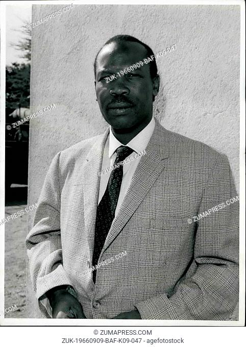 Sep. 09, 1966 - African High Commission Territories: The Bechuanaland protectorate. Photo shows Pres. Sir Seretse Khama, of the Bamangwato tribe