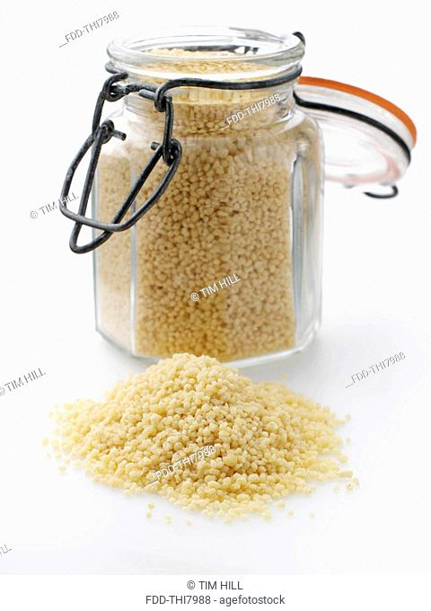 Couscous in a kilner jar