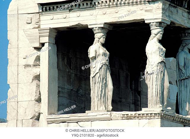 Porch of the Maisens or Caryatids of Erechtheion Iconic Temple (421-406BC) Athens Greece