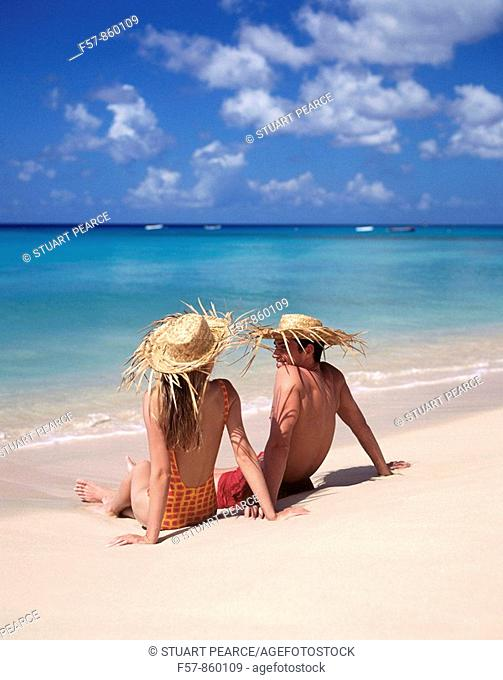 Couple in Barbados, Caribbean