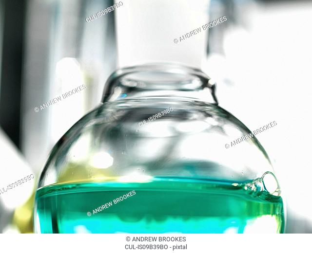 Chemical experiment in a laboratory