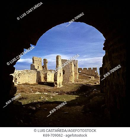 Ruins. Caliph Castle. Gormaz (Soria) Spain
