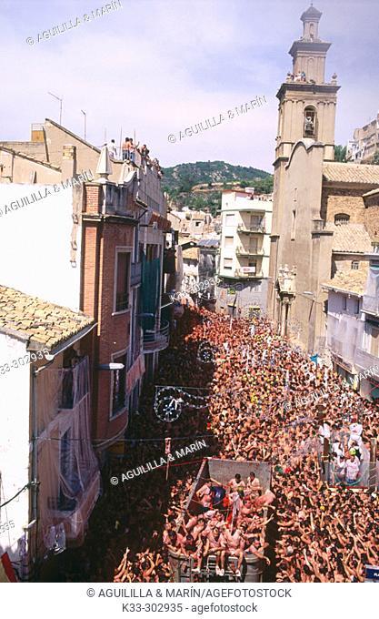 The Tomatina festival. Bunyol. Valencia province. Spain