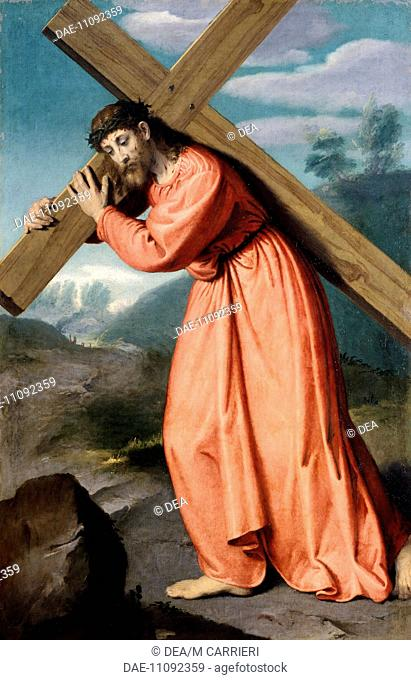 Christ carrying the cross, 1560-1565, by Giovanni Battista Moroni (1525 ca- 1578). Shrine of Our Lady of Tears, Albino