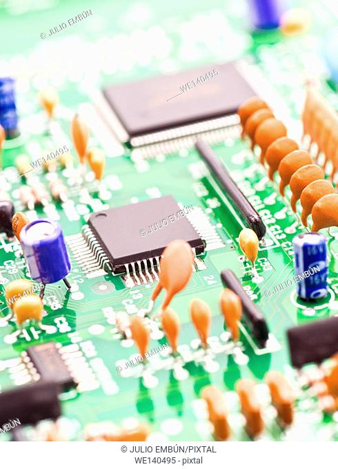processor and other electronic components mounted on board