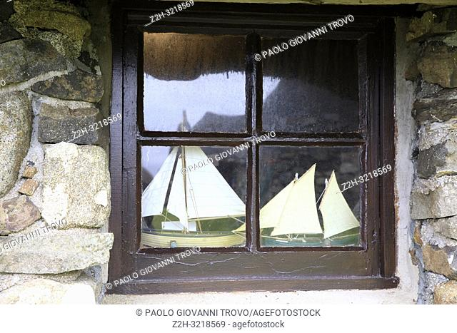 A window in Skye Museum of Island Life, Isle of Skye, Inner Hebrides, Scotland, United Kingdom