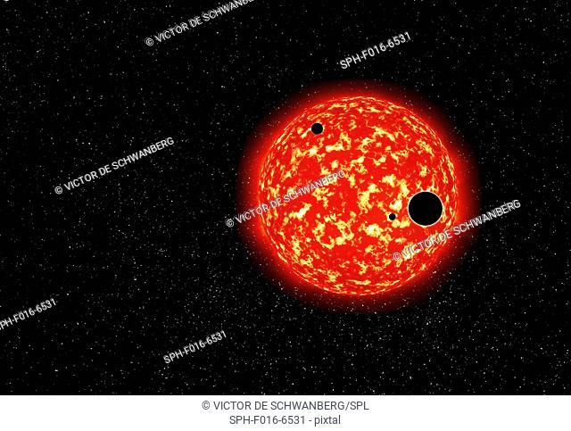 Exo planet, illustration