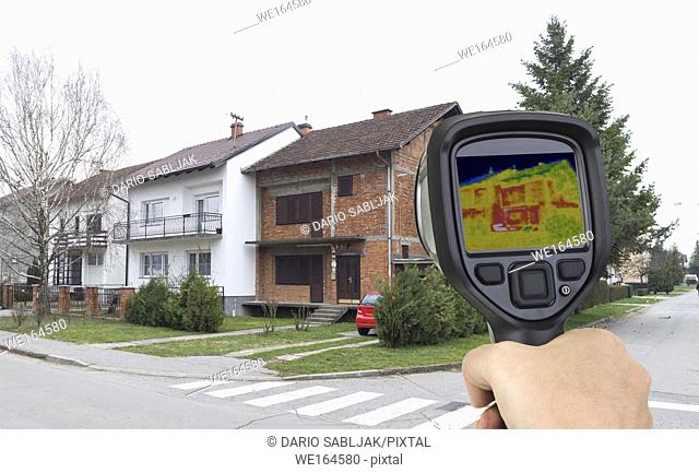 Before Facade Thermal Imaging Infrared Leak