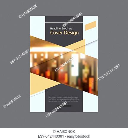 Brochure template business vector layout, cover design annual report, magazine, flyer or booklet with dynamic geometric shapes