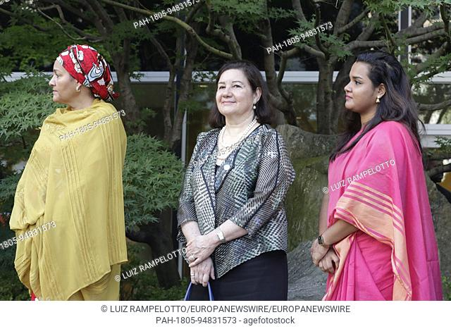 United Nations, New York, USA, September 15 2017 - Maria Luiza Ribeiro Viotti, Amina Mohammed and Jayathma Wickramanayake