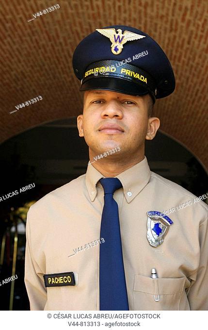 Security guards in Hotel Santa Teresa, Cartagena de Indias, Colombia