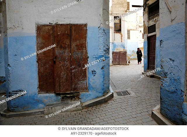 North Africa, Morocco, City of Fez (Fes), the Mellah quarter close to the royal palace was reserved for the jews from centuries and is now abandoned since the...