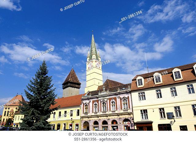 The Fortified Saxon Church of Medias, Transylvania, Romania