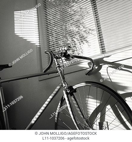 Bicycle under window