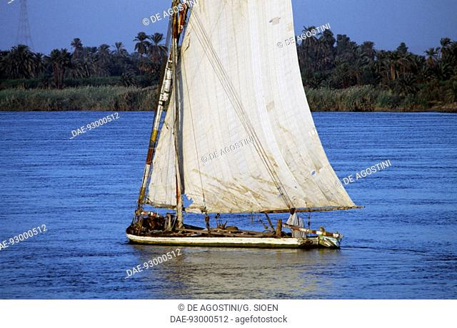 Felucca on the Nile river, Egypt