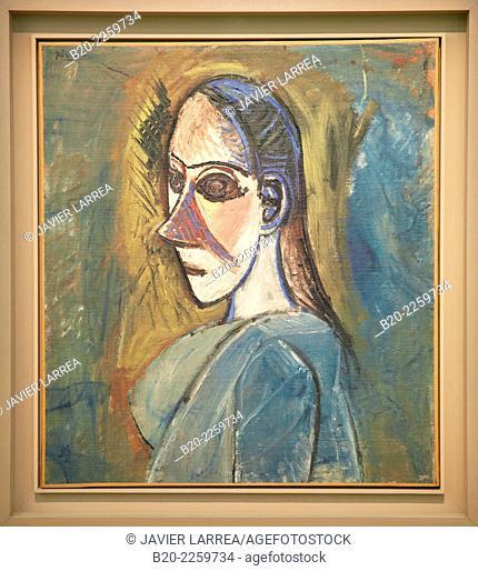 Bust de femme, 1907. Pablo Picasso. Centre George Pompidou. Musee National d'Art Moderne. Paris. France