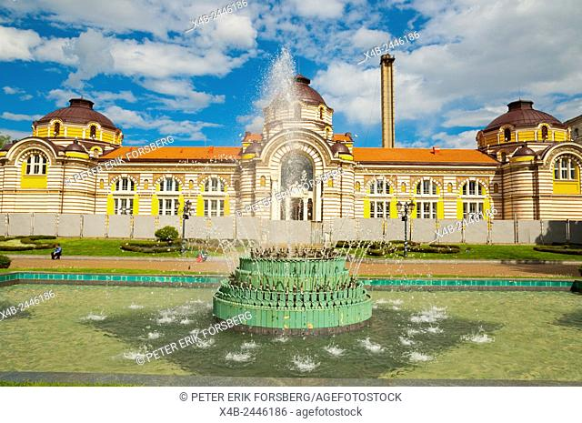 Fountain, in front of Mineral Baths, central Sofia, Bulgaria, Europe
