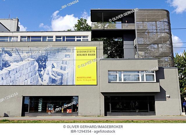 Dokumentationszentrum Berliner Mauer, Berlin Wall Documentation Center, Memorial Berlin Wall, Kreuzberg, Germany, Europe