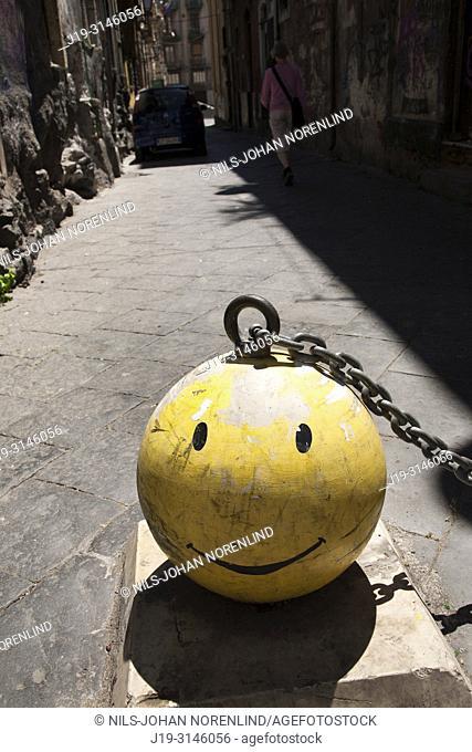 Road block Catania, Sicily