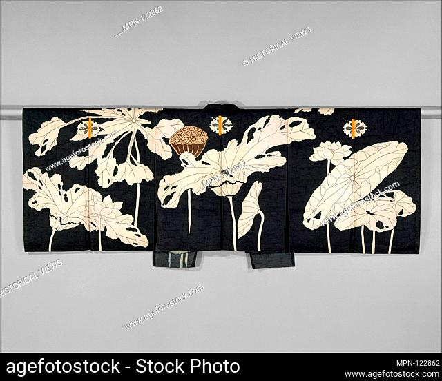 Kyogen Costume: Jacket (Suo) with Design of Lotuses. Period: Edo period (1615-1868); Date: early 19th century; Culture: Japan; Medium: Resist-dyed and painted...