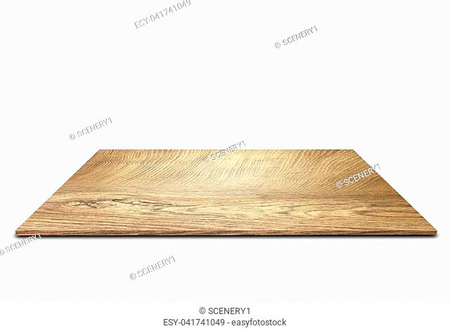 Wooden floor isolated on the white background