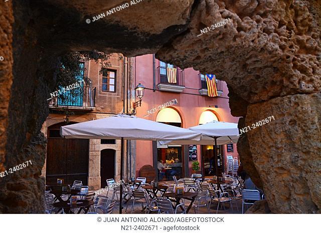 Plaça del Forum. Old quarter. Tarragona, Catalonia, Spain, Europe