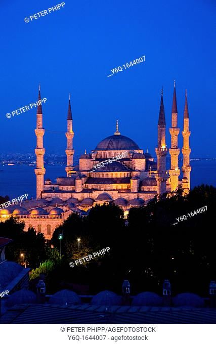 The 'Blue Mosque' Sultan Ahmet Camii  Istanbul, at night