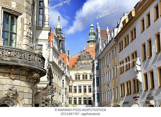 Old Town Skyline, Saxony, Dresden, Germany