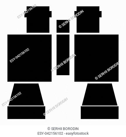 Binocular pair of glasses icon black color vector illustration flat style simple image